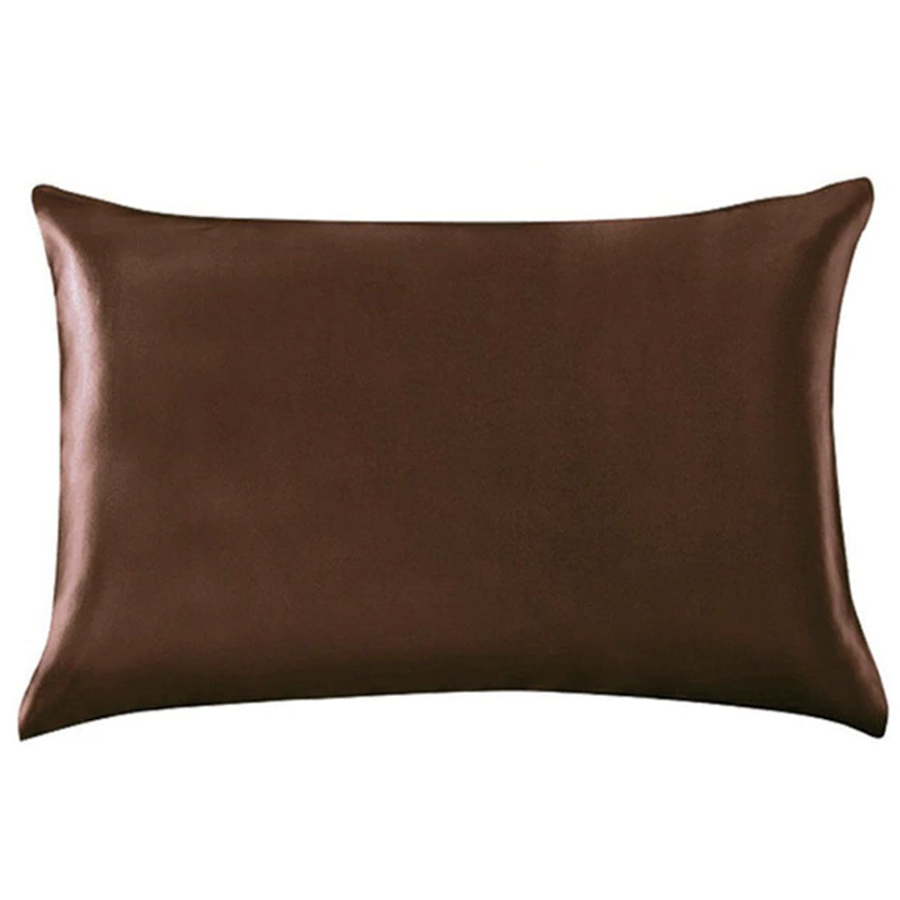 brown silk pillowcase