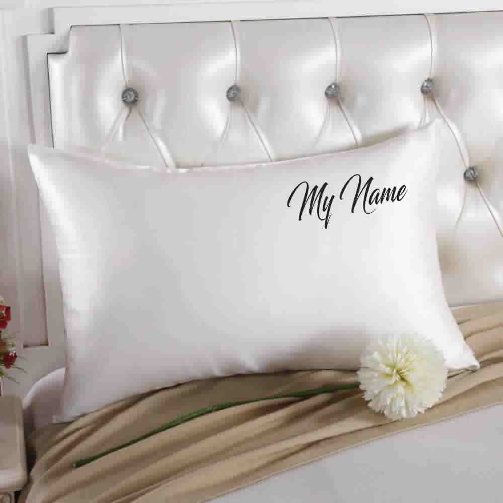 Custom Embroidered Silk Pillowcase