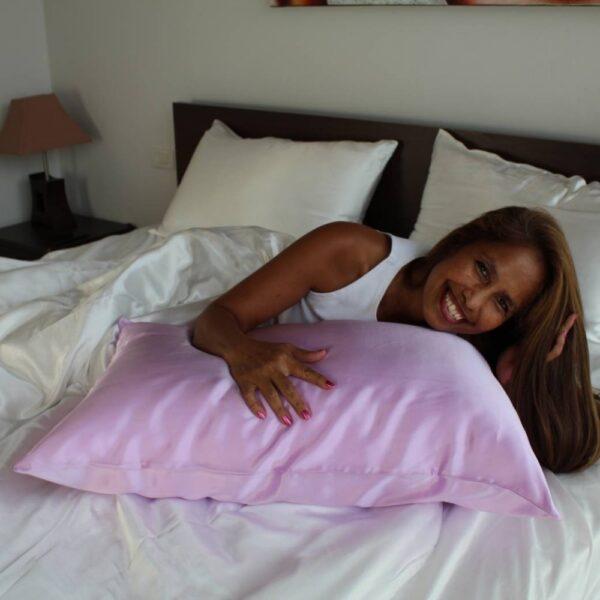 lavender mulberry silk pillow case