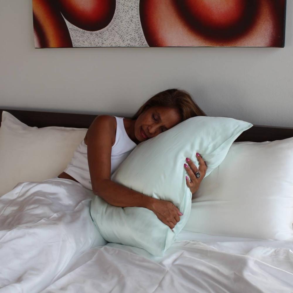 mint green mulberry silk pillowcase